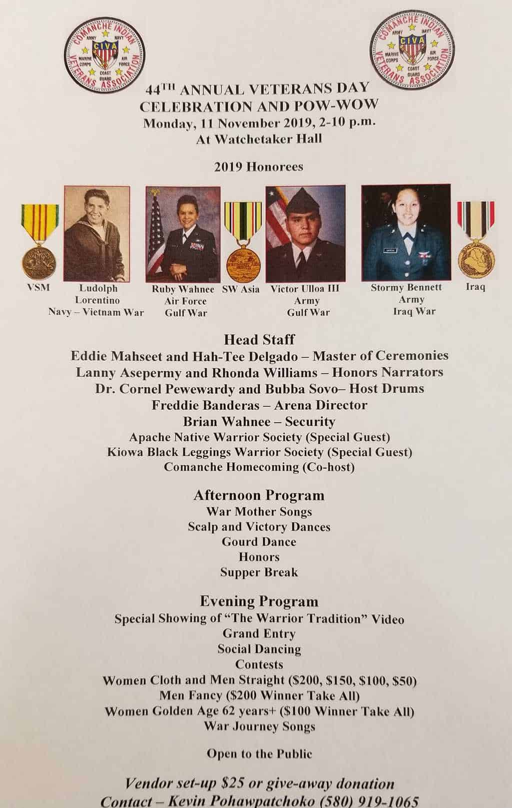 44th Annual Veterans Day Celebration and Pow-Wow